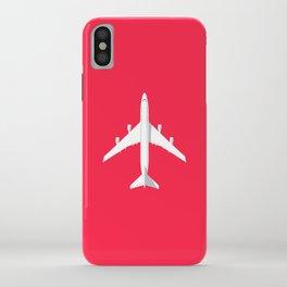 747-400 Jumbo Jet Airliner Aircraft - Crimson iPhone Case