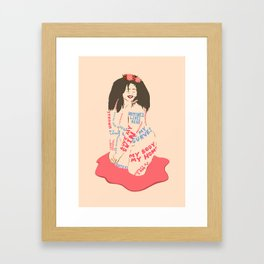 My Body My Home Framed Art Print
