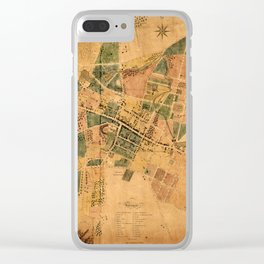 Map Of Poughkeepsie 1834 Clear iPhone Case