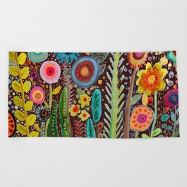 jardinage Beach Towel
