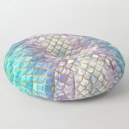 Pretty Mermaid Scales Floor Pillow
