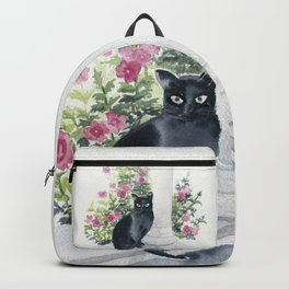 Guard Cat On Duty Backpack