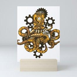 Steampunk Octopus Mini Art Print