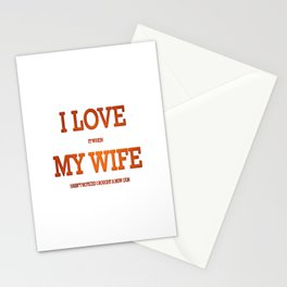 I love my wife and guns Stationery Cards
