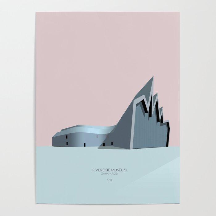 Riverside Museum Zaha Hadid Poster