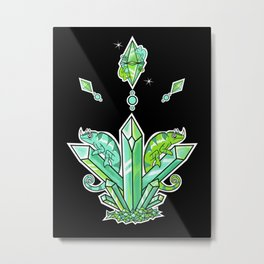 Viridian Diamond Metal Print