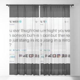 kany west tweet Sheer Curtain