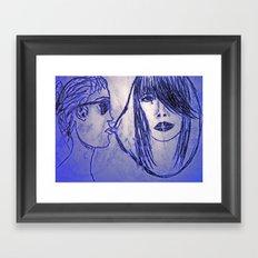 UK dream girl Framed Art Print