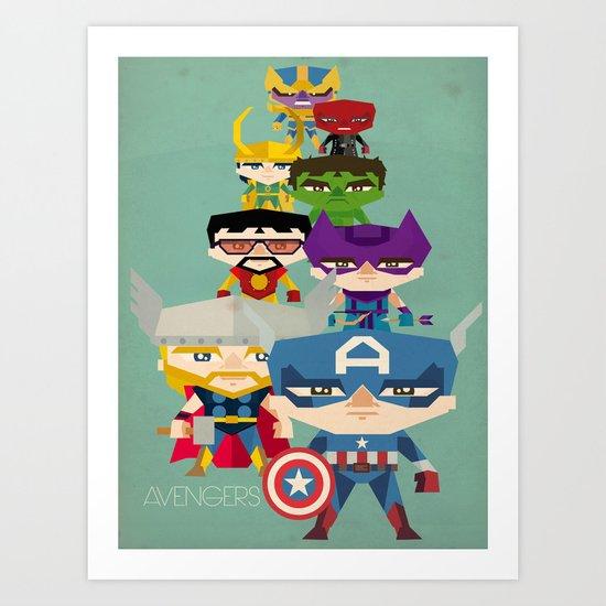 avengers 2 fan art Art Print
