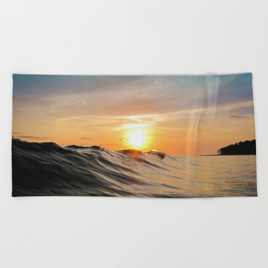 Sunset in Paradise Beach Towel