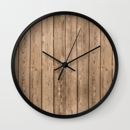 Wood I Wall Clock