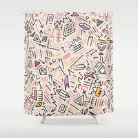 aztec Shower Curtains featuring Aztec by Kristyn Bailey