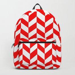 HERRINGBONE (RED & WHITE) Backpack