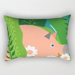Piglet and sorrel Rectangular Pillow