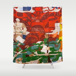 RED BOOT Shower Curtain