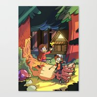 gravity falls Canvas Prints featuring Gravity Falls by Izzy