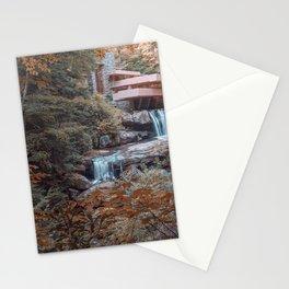 Fallingwater House by Frank Lloyd Wright Stationery Cards