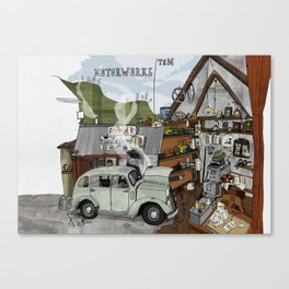 The Old Garage Canvas Print