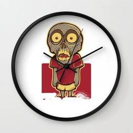 Zombie Kid I Like Turtles Funny Halloween Wall Clock