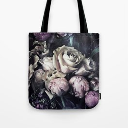 Roses and peonies vintage style Tote Bag