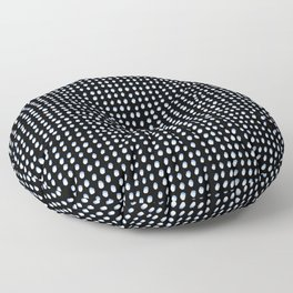 Dots (Shadowed) - White x Blue Floor Pillow