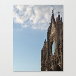 Siena cathedral at sunset Canvas Print