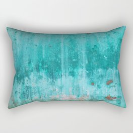 Weathered turquoise concrete wall texture Rectangular Pillow