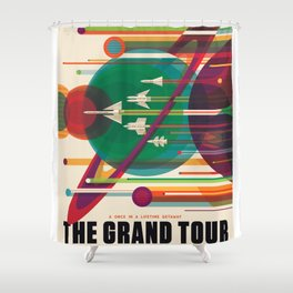 NASA Visions of the Future - The Grand Tour, a Once in a Lifetime Getaway Shower Curtain
