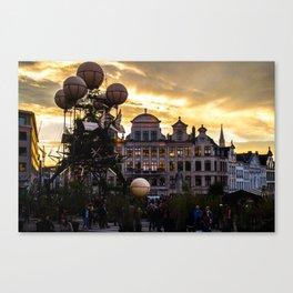 Steampunk Sunset Canvas Print