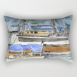 Boats and the River Rectangular Pillow