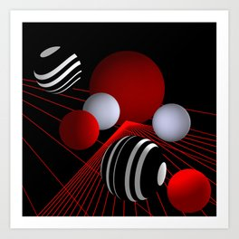 converging lines -3- Art Print