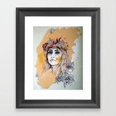 female model Framed Art Print