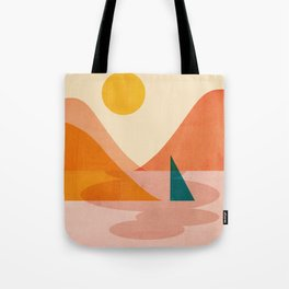Abstraction_Lake_Sunset Tote Bag
