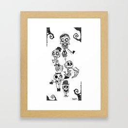 Bone Heads Framed Art Print