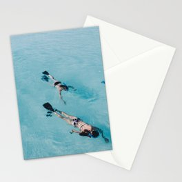 swimming in ocean Stationery Cards