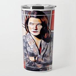 Power Red Alana Bloom Travel Mug