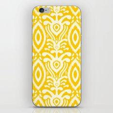 Yellow Ikat Pattern iPhone Skin