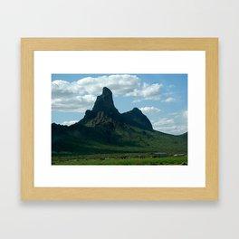 mountain green Framed Art Print