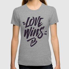 Love Wins Brush Lettering T-shirt
