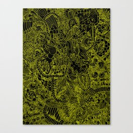 Black and Yellow Underbrush Canvas Print