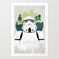 stormtrooper Art Prints featuring Stormtrooper by Robert Scheribel
