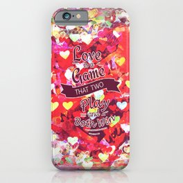 It takes Two To Love and Win iPhone Case