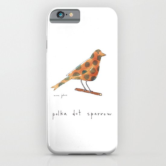 polka dot sparrow iPhone & iPod Case