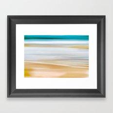 Abstract Beachscape Framed Art Print