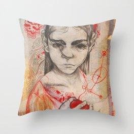 Heart String Throw Pillow