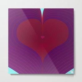 I Heart Lines Metal Print