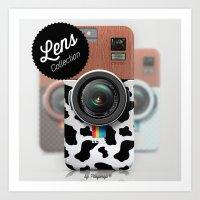 Lens CW300 - Wooden Cow Camera Art Print