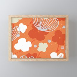 Spring Garden M+M Tangerine by Friztin Framed Mini Art Print