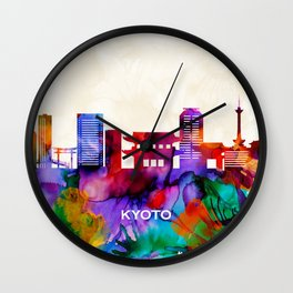 Kyoto Skyline Wall Clock