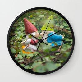 First Kiss - Garden Gnome Wall Clock
